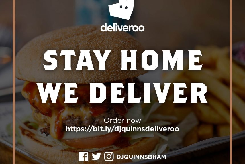 Deliveroo is coming to D.J. Quinns!