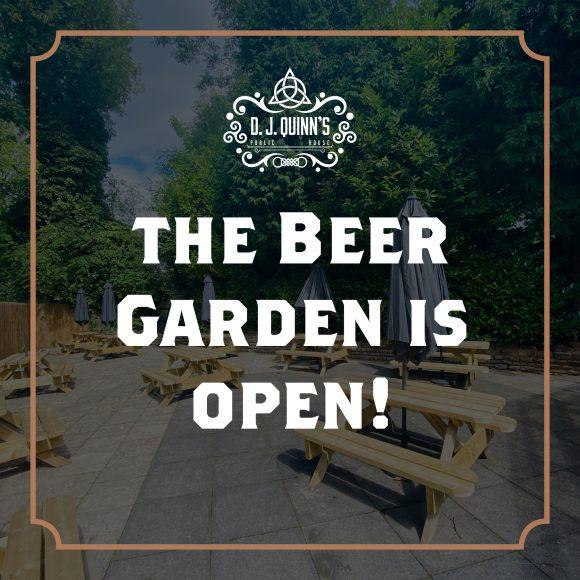 The Beer Garden Is Open!